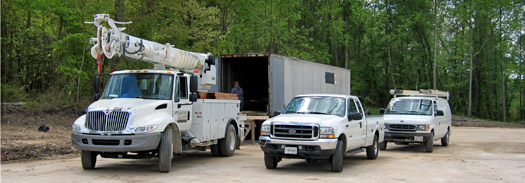 Trucks and Equipment for High Voltage Repairs and Service